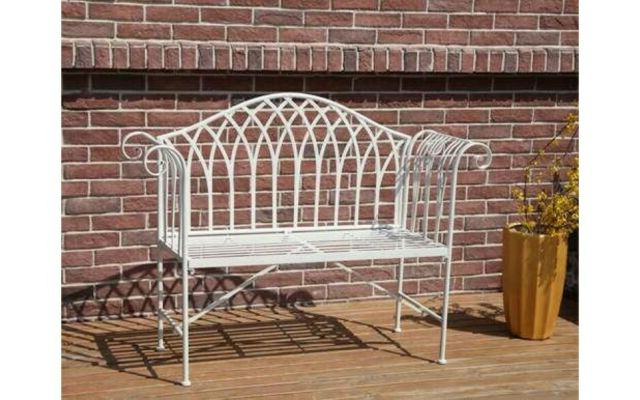 1 Person Antique Black Steel Outdoor Gliders In Most Up To Date Metal Chair Garden Lovebench Patio Seat Furniture Antique Vintage Outdoor Bistro (View 7 of 20)