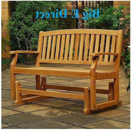 Featured Photo of Teak Outdoor Glider Benches