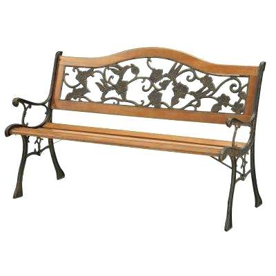 2 Person Antique Black Iron Outdoor Gliders In Preferred Outdoor Benches Home Depot – Boysclothes (View 17 of 20)