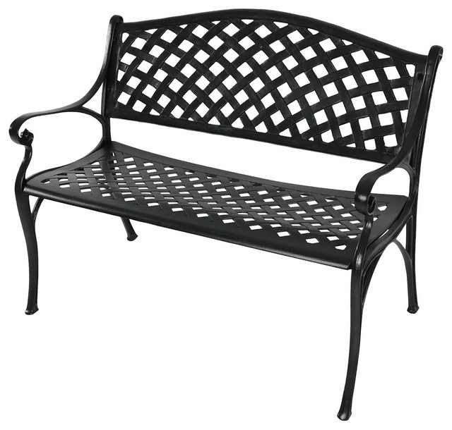 2 Person Antique Black Iron Outdoor Swings Regarding Most Current Swing Chair Vidaxl Vintage Classic 2 Person Aluminum Garden (View 3 of 20)