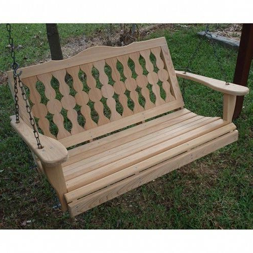 2 Person Black Wood Outdoor Swings Throughout Famous Jr Ables Victorian 2 Person Wooden Swing #blackleatherchair (Gallery 6 of 20)