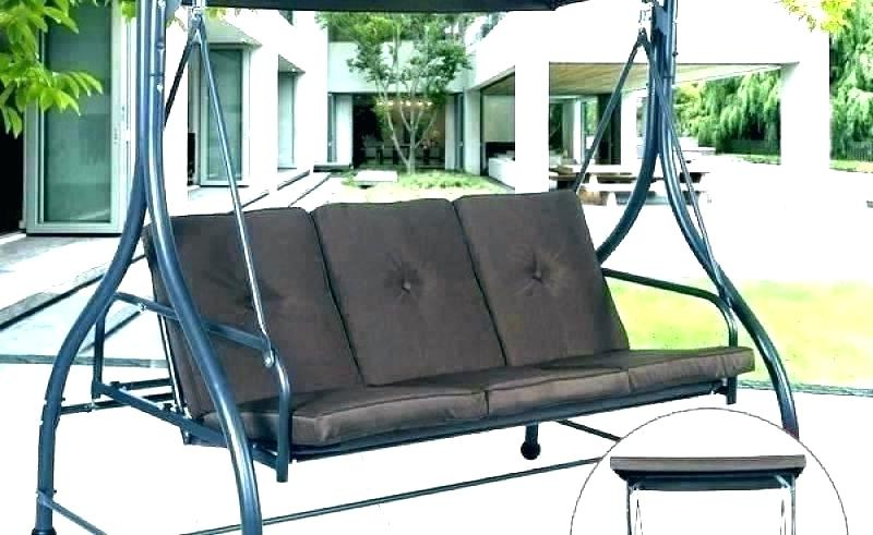 2 Person Gray Steel Outdoor Swings Within Current 3 Person Swing Cushion – Fortnitestrats.co (Gallery 20 of 20)