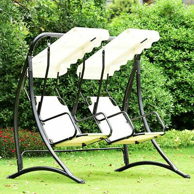 2 Person Hammock Porch Swing Patio Outdoor Hanging Loveseat Canopy Glider Swings In Famous 2 Person Hammock Porch Swing Patio Outdoor Hanging (Gallery 3 of 20)