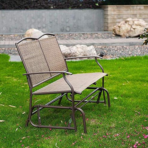 2 Person Loveseat Chair Patio Porch Swings With Rocker Within Widely Used Sunlife Outdoor Swing Glider 2 Person, Patio Furniture (View 16 of 20)