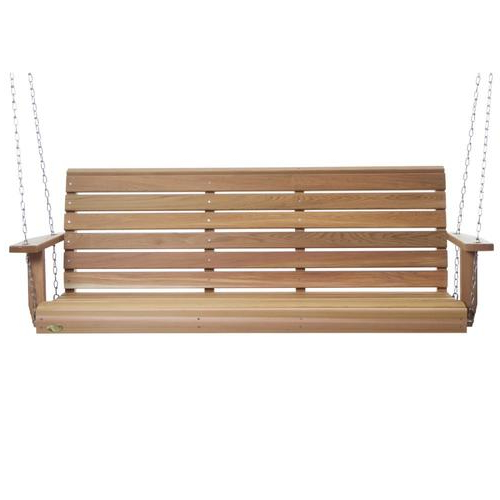 2 Person Natural Cedar Wood Outdoor Swings Intended For Widely Used 2 Person Natural Cedar Wood Outdoor Swing (View 1 of 20)