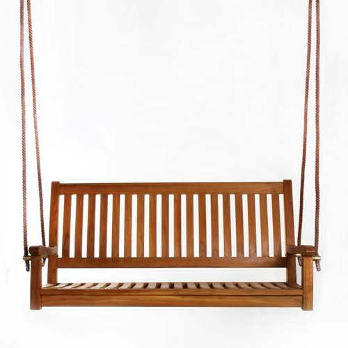 2 Person Natural Cedar Wood Outdoor Swings Pertaining To Most Recent All Things Cedar 2 Person Java Wood Outdoor Swing At (Gallery 2 of 20)