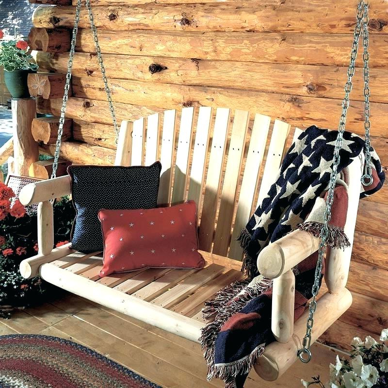 2 Person Natural Cedar Wood Outdoor Swings Within Best And Newest Review: 3 Best Two Person Porch Swings Proudly Made In The Usa (Gallery 15 of 20)