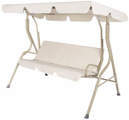 2 Person Outdoor Convertible Canopy Swing Gliders With Removable Cushions Beige Within Current Outdoor Canopy Swing Glider 2 Person Patio Furniture (Gallery 1 of 20)