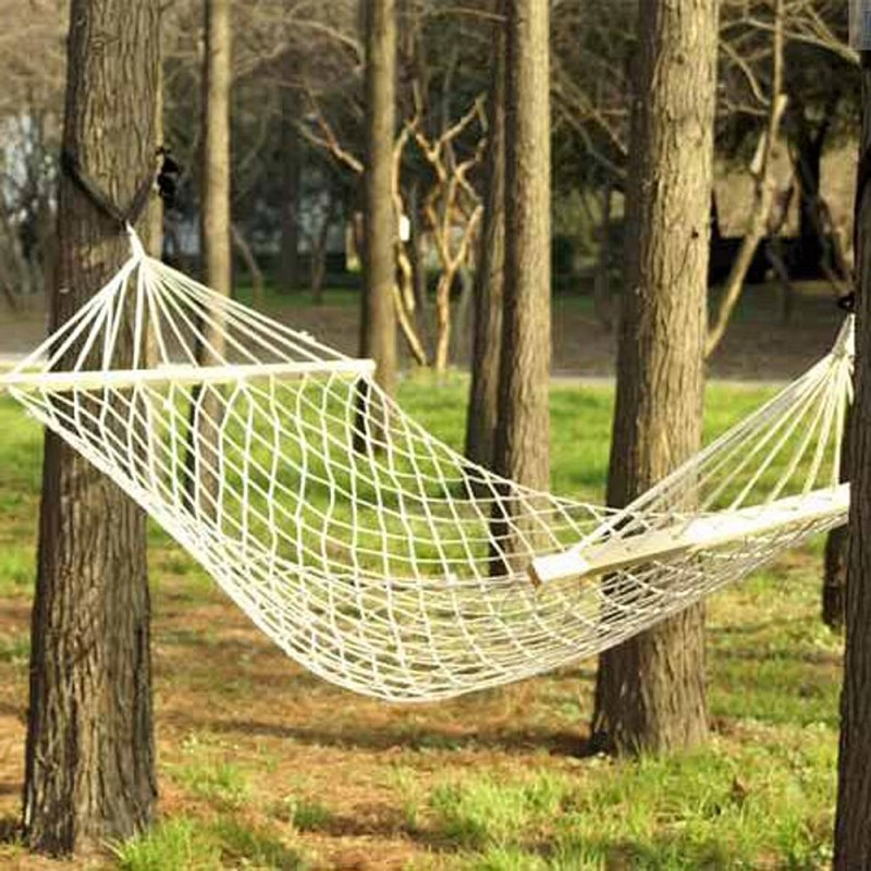 2 Person Outdoor Swing Hanging Camping Hammock Bed Patio Within Most Up To Date 2 Person White Wood Outdoor Swings (Gallery 14 of 20)