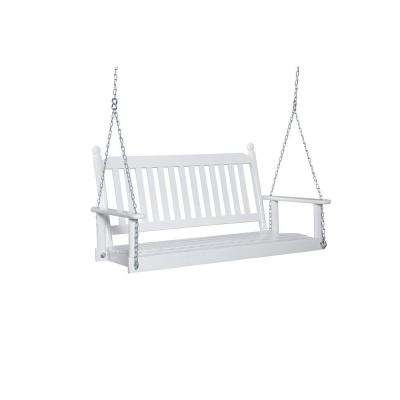 2 Person White Porch Swing Inside Best And Newest Casual thames White Wood Porch Swings (View 11 of 20)