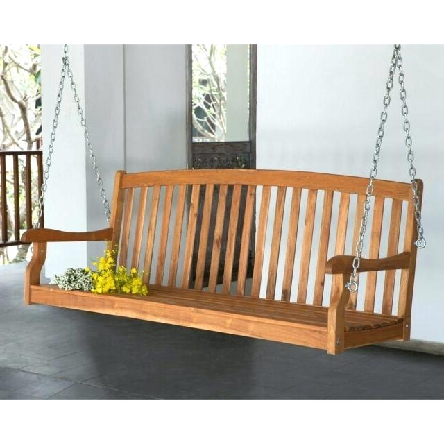 2 Person White Wood Outdoor Swings Throughout Fashionable White Wooden Porch Swing Swings Compressed N Wood Classic (Gallery 5 of 20)