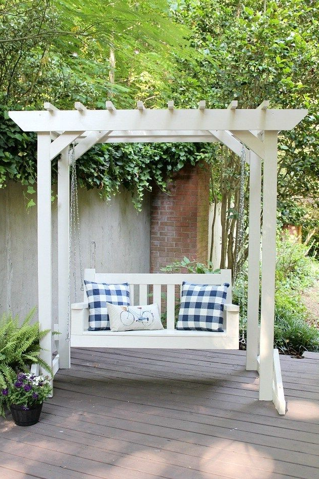 20+ Porch Swing Plans – Diy Porch Swing In Latest Pergola Porch Swings With Stand (Gallery 9 of 20)