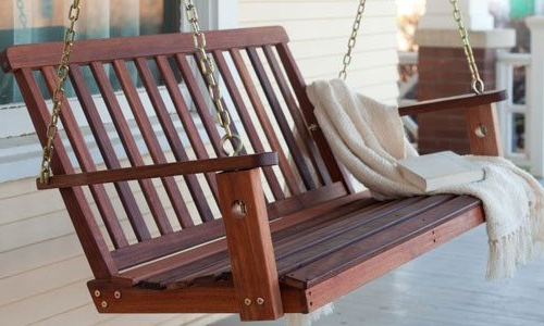 2019 2 Person Light Teak Oil Wood Outdoor Swings With Best Porch Swing Chairs Reviews And Buyers Guide (View 9 of 20)
