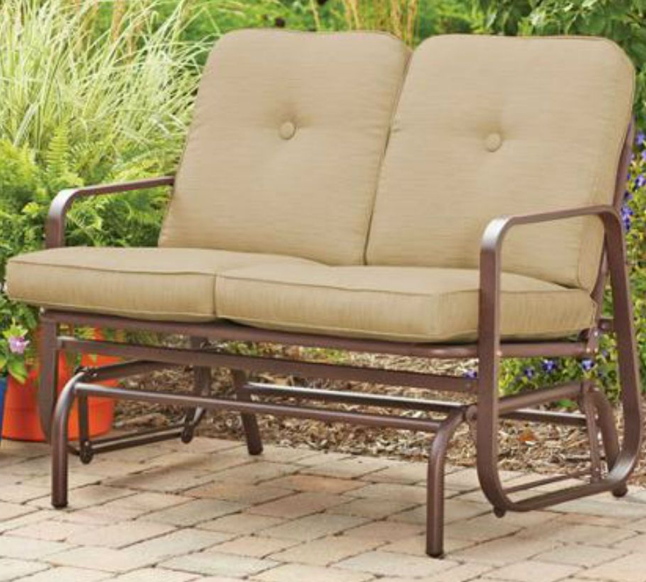 2019 Details About Outdoor Patio Swing Porch Rocker Glider Bench Within Outdoor Patio Swing Porch Rocker Glider Benches Loveseat Garden Seat Steel (View 13 of 20)