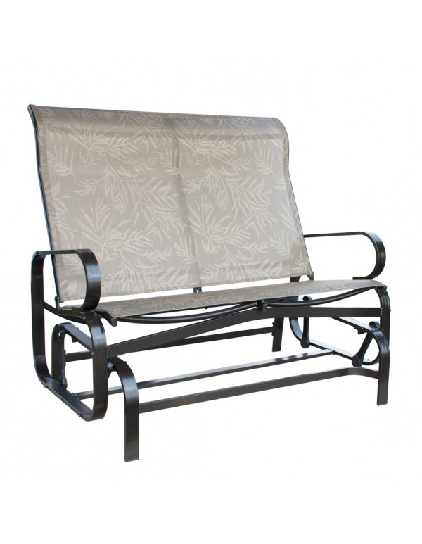 2019 Iron Double Patio Glider Benches Pertaining To Outdoor Patio Glider Bench Double 2 Person Rocking Porch (Gallery 15 of 20)