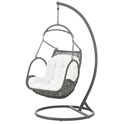 2019 Outdoor Swing Glider Chairs With Powder Coated Steel Frame Regarding Modway Arbor Collection Eei 2279 47 Inch Outdoor Patio (View 9 of 20)