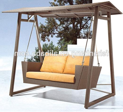 2019 Patio Rattan Wicker Two Seater Garden Swing Chair – Buy Two Seater Garden Swing,two Seat Swing Chair,patio Swing Chair Product On Alibaba Regarding Rattan Garden Swing Chairs (View 4 of 20)