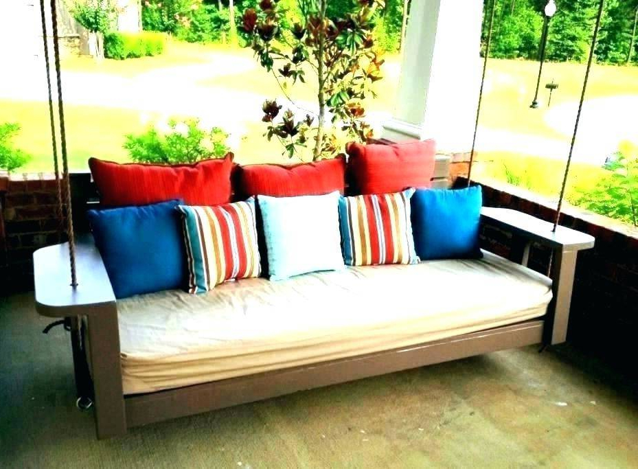 2019 Porch Swing Pillows Outdoor Daybed Bedrooms Patio Twin Round Throughout Day Bed Porch Swings (Gallery 17 of 21)