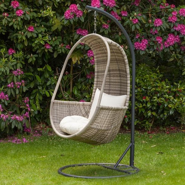 2019 Rattan Garden Swing Chairs Within Royalcraft Wentworth Rattan Hanging Pod Chair (Gallery 17 of 20)