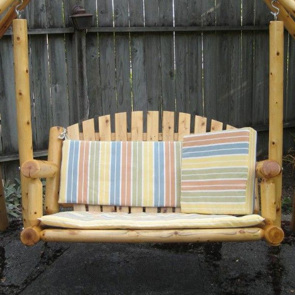 2019 Rustic Natural Cedar Garden Cedar Porch Swing (View 2 of 20)