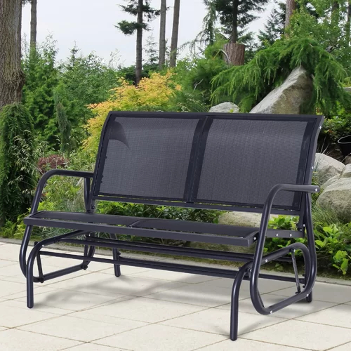 "2019 Steel Patio Swing Glider Benches Regarding Callen 49"" Outdoor Patio Swing Glider Bench In 2019 (Gallery 9 of 20)"