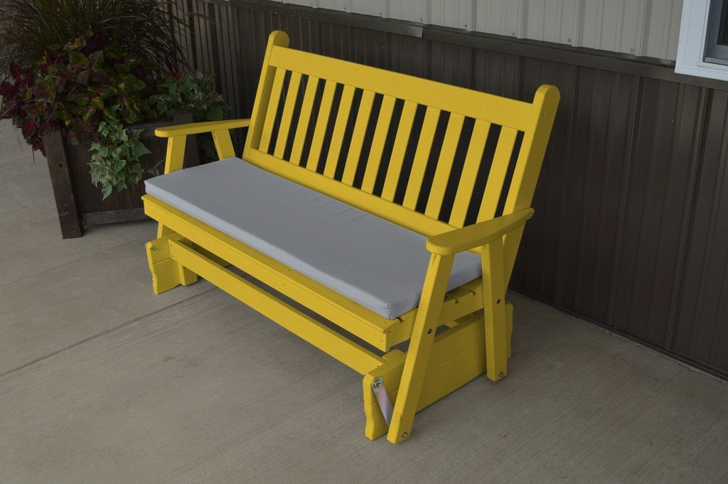 2019 Traditional English Glider Benches In A & L Furniture Co. Yellow Pine 6' Traditional English (Gallery 3 of 20)