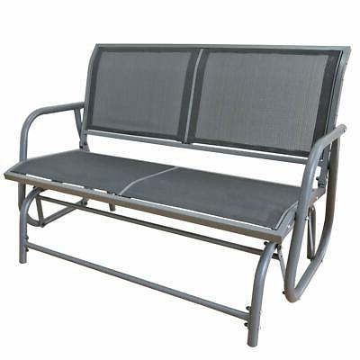 2020 2 Person Industrial Vintage Style Metal Bench Loveseat With Regard To 2 Person Antique Black Iron Outdoor Gliders (View 2 of 20)