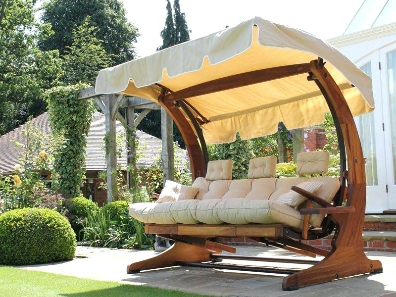 2020 3 Seat Pergola Swings Within 3 Seater Garden Swing Seat Wooden Chair Cushions – For The (View 20 of 20)