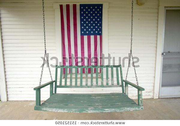 2020 Barstow California Circa 2005 Old Swing Stock Photo (edit In American Flag Porch Swings (View 8 of 20)