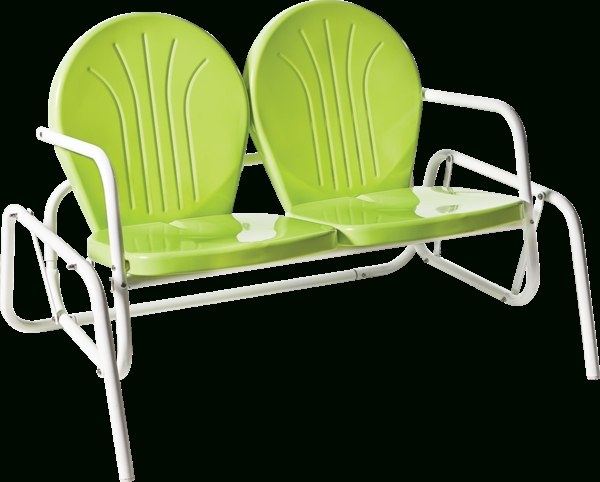 Featured Photo of Metal Powder Coat Double Seat Glider Benches
