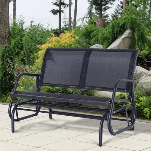 """2020 Callen 49"""" Outdoor Patio Swing Glider Bench In 2019 In Outdoor Steel Patio Swing Glider Benches (View 2 of 20)"""