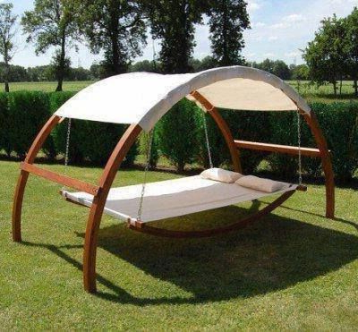 2020 Garden Leisure Outdoor Hammock Patio Canopy Rocking Chairs For Leisure Season Patio Swing Bed With Canopy Sbwc402 (Gallery 10 of 20)