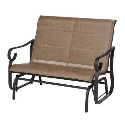 2020 Low Back Glider Benches For Crestridge Padded Sling Outdoor Glider In Putty (View 18 of 20)