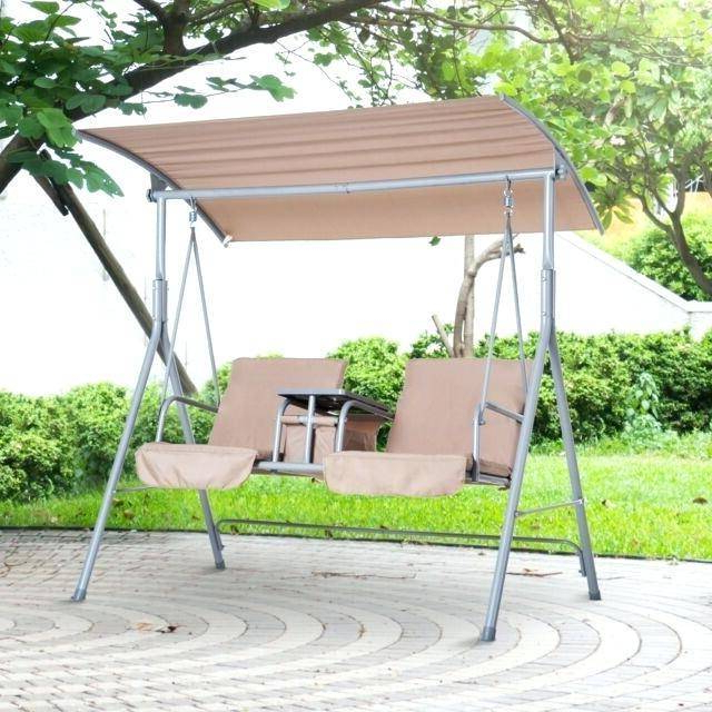 2020 Patio Charming Swing Canopy Replacement Outdoor Porch Double For Wicker Glider Outdoor Porch Swings With Stand (Gallery 10 of 20)