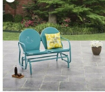 2020 Patio Glider Bench Outdoor Garden Furniture Wood Alternative Inside Outdoor Retro Metal Double Glider Benches (View 13 of 20)