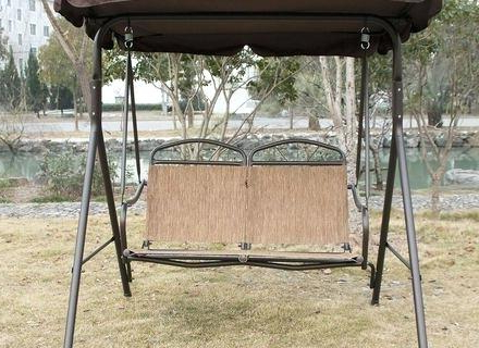 2020 Patio Glider Hammock Porch Swings Pertaining To Patio Furniture Swings And Gliders – Sigpot (Gallery 17 of 20)