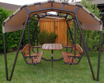 2020 Patio Glider Hammock Porch Swings Within The Ultimate Outdoor 6 Person Patio Swing Set (Gallery 11 of 20)