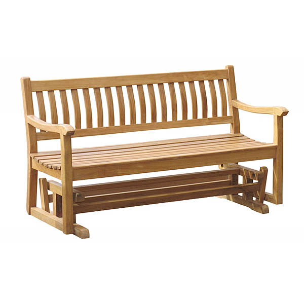 "2020 Teak Outdoor Glider Benches Within 60"" Teak Glider Bench Totgb002 (Gallery 16 of 20)"