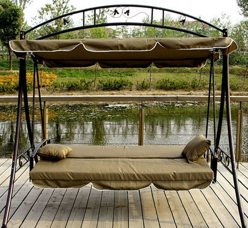 3 Person Brown Steel Outdoor Swings For Widely Used Outdoor Garden Yard Over Size 3 Person Patio Swing Chair – Buy Patio Swing Chair,garden Swing Chair,hammock Swing Product On Alibaba (View 8 of 20)