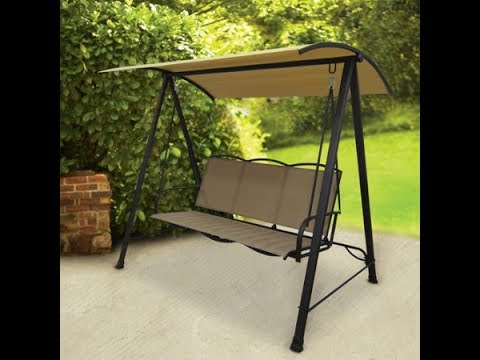 3 Person Brown Steel Outdoor Swings Throughout Newest Outdoor Swing – Premium Outdoor Swings Latest Price (View 13 of 20)