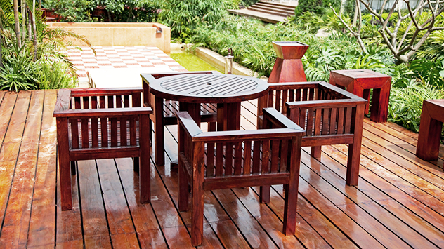 3 Person Light Teak Oil Wood Outdoor Swings For Trendy Choosing The Most Durable Wood For Outdoor Furniture (View 12 of 20)