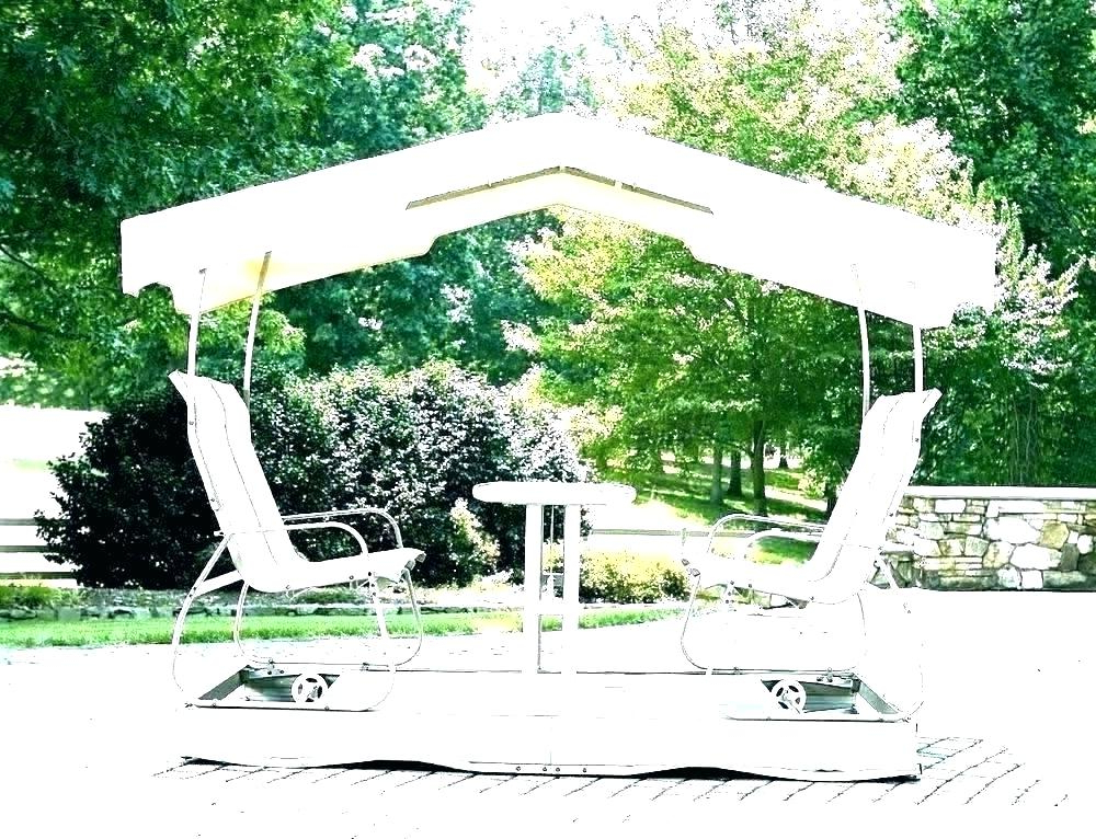 3 Person Outdoor Porch Swings With Stand Throughout 2020 Winning Outdoor Covered Swing Swinging Lounger Outsunny (View 6 of 20)