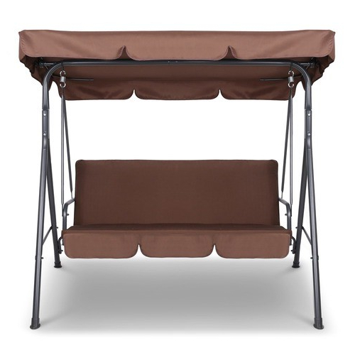 3 Seater Outdoor Canopy Swing Chair Intended For Favorite 3 Seater Swings With Frame And Canopy (View 13 of 20)