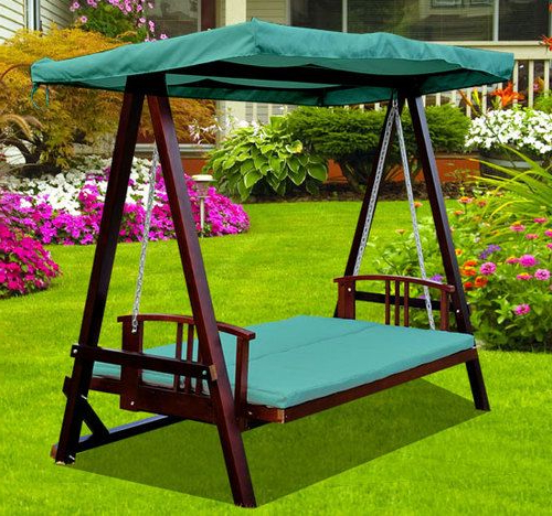 3 Seater Swings With Frame And Canopy Regarding Well Known Swing Swing Swing! 3 Seater Wooden Garden Swing Chair Seat (View 16 of 20)