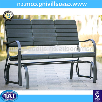 66 Inch Indoor/outdoor Glider Bench Garden Park Bench Love Seat Lounge  Chair,three Person – Buy Glider Bench,indoor/outdoor Garden Glider  Bench,glider In Fashionable Rocking Love Seats Glider Swing Benches With Sturdy Frame (View 2 of 20)