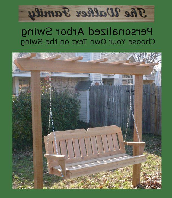 Featured Photo of A4 Ft Cedar Pergola Swings