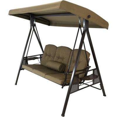 Adjustable Canopy Tilt – Pillows Included – Porch Swings Regarding Fashionable Deluxe Cushion Sunbrella Porch Swings (View 18 of 20)