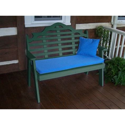 A&l Furniture Company Recycled Plastic 4' Marlboro Garden Within Trendy Low Back Glider Benches (View 5 of 20)