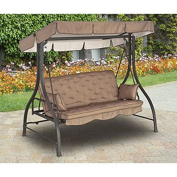 Alcove 3 Seat Hammock Cushion Swing – Brown (View 7 of 20)