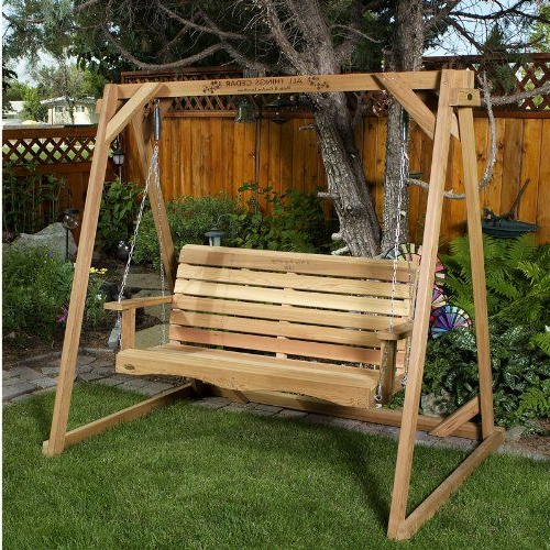 All Things Cedar Af90s Swing With Aframe 6 ** This Is An Throughout Well Known A4 Ft Cedar Pergola Swings (View 3 of 20)
